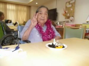 福祉館恵海珊瑚ユニットにて、寒天ケーキを食べられました。