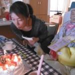 ②お誕生日を迎えられ、ささやかな会をさせて頂きました(^O^)