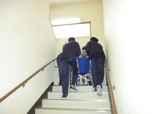 ■避難訓練の様子(ー_ー)!!